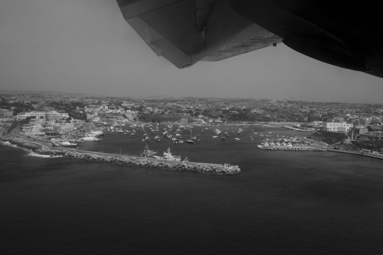 Lampedusa (AG), 23/04/2013, una veduta aerea .